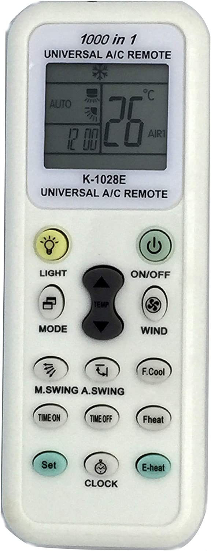 Esunfo Air Conditioner Remote AC Control LCD Universal Conditioning Controller 1000 in 1 for Mitsubishi Toshiba Hitachi Fujitsu Daewoo Lg Sharp Samsung Sanyo Whirlpool