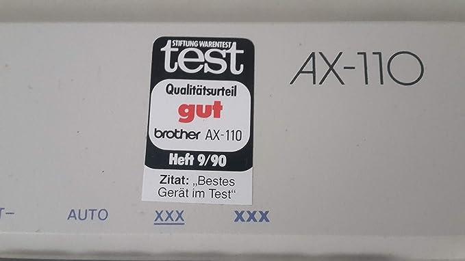 Brother AX de 110 eléctrica máquina de escribir: Amazon.es: Oficina y papelería