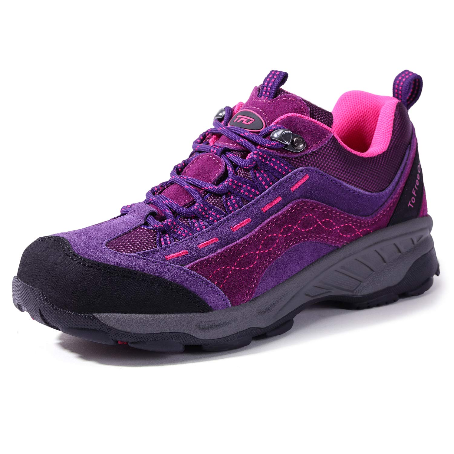TFO Women's Air Cushion Hiking Shoe Breathable Running Outdoor Sports Trail Trekking Sneaker (7.5 M US, Purple/Rose) by TFO