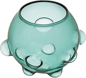 Bloomingville Glass Ball Bubbles, Blue Vase, Teal