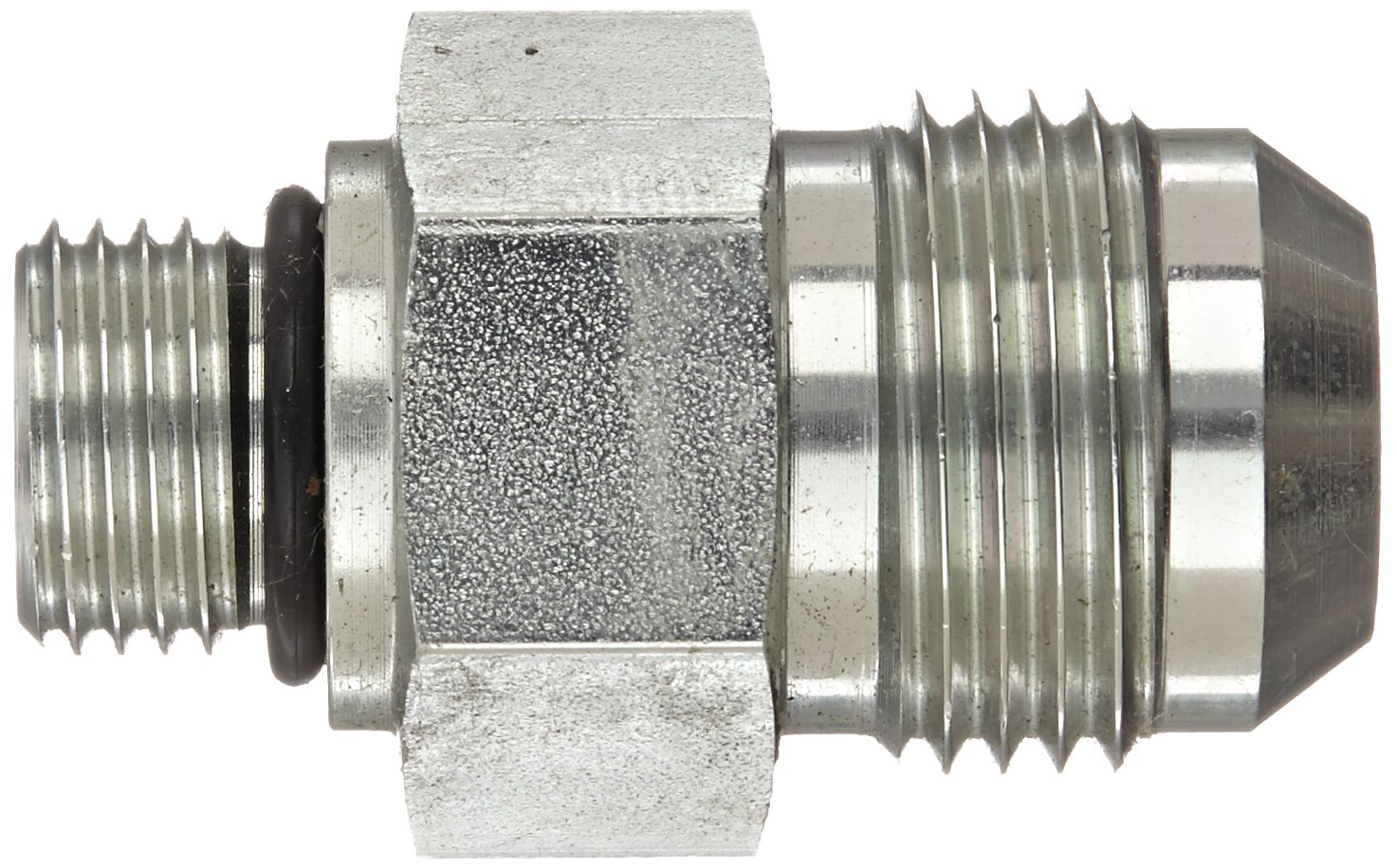 Adapter Eaton Aeroquip 202702-6-10S Steel Flared Tube Fitting 5//8 Male JIC x 3//8 O-Ring Boss Male