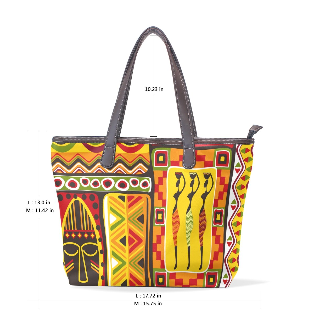 African Art Tribal Print Womens Fashion Large Shoulder Bag Handbag Tote Purse for Lady