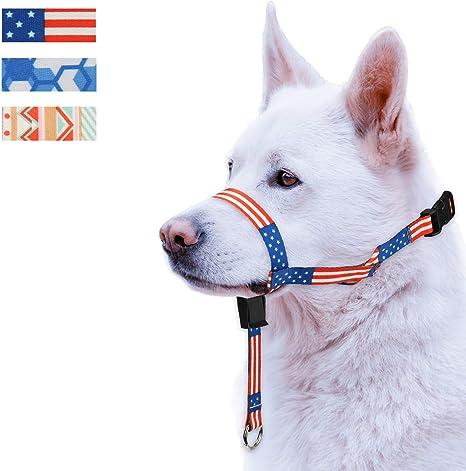 wintchuk Colorido Collar de Cabeza de Perro con 3 Hermosos diseños ...