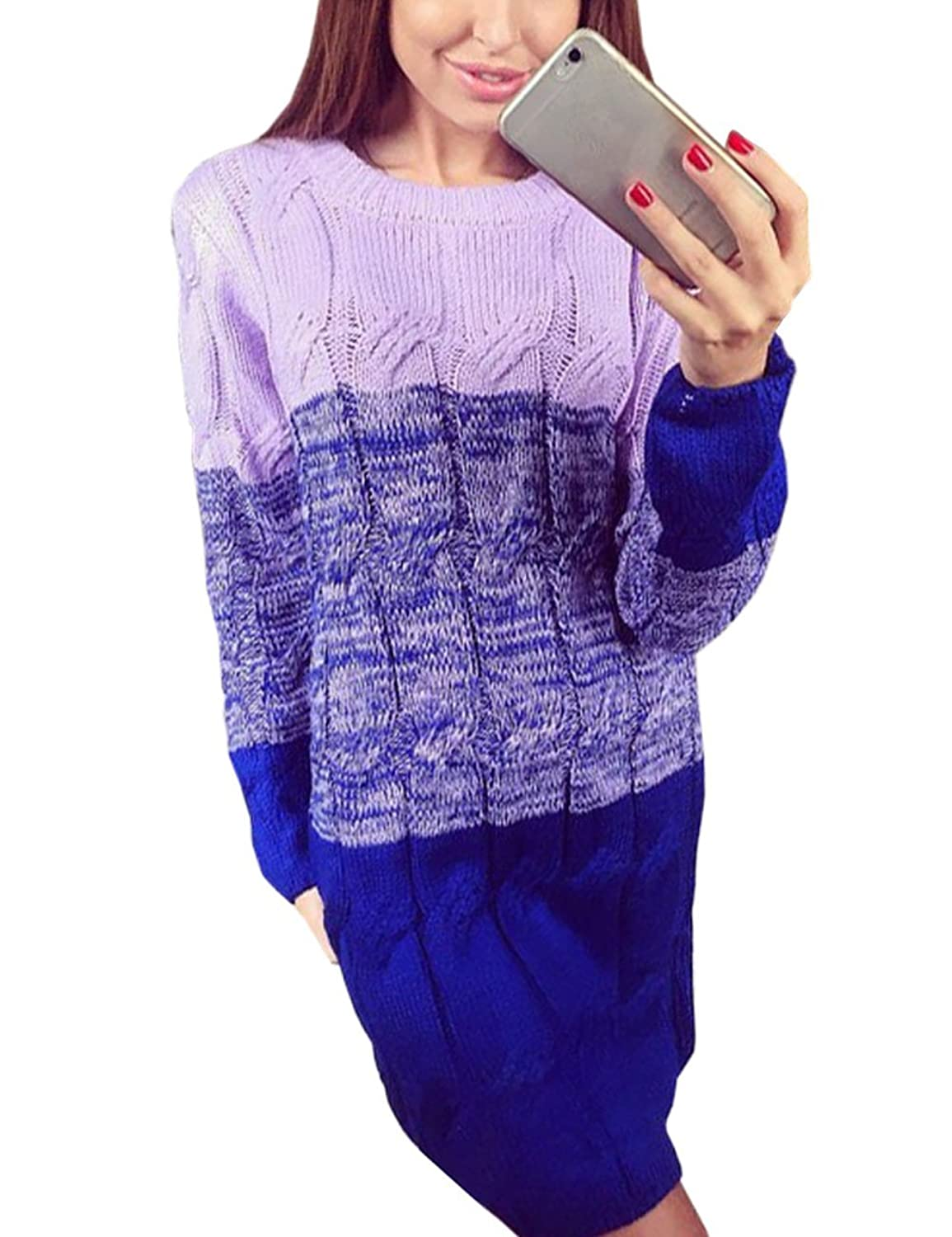 YOLLmart Women's Cable Chunky Knitted Long Sleeves Cardigans Sweater Coat Pullover