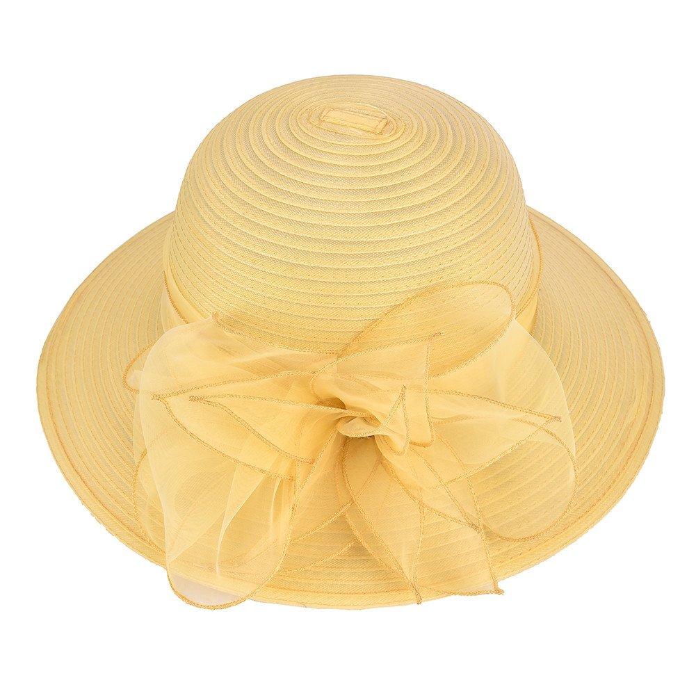 20555a01178 Lawliet Womens Kentucky Derby Floral Wide Brim Church Dress Sun Hat A323    Sun Hats   Clothing