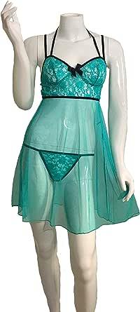 Eva Dora Lingerie Dress for Women, Size L, Tiffany