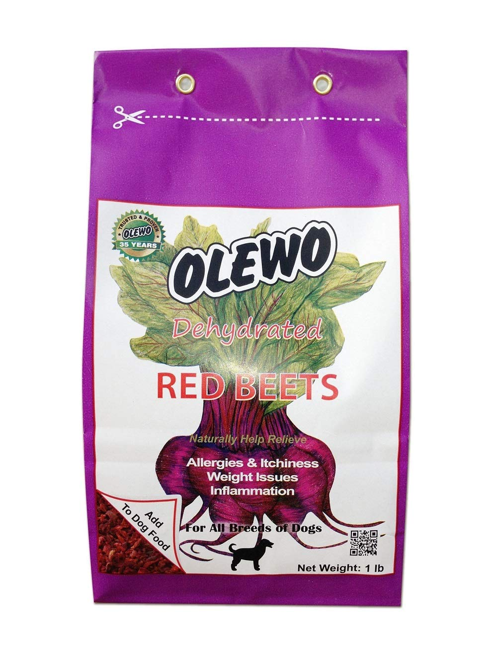 1 Pound Olewo 24101 1-Pound Dehydrated Red Beets, Dog Food Supplement