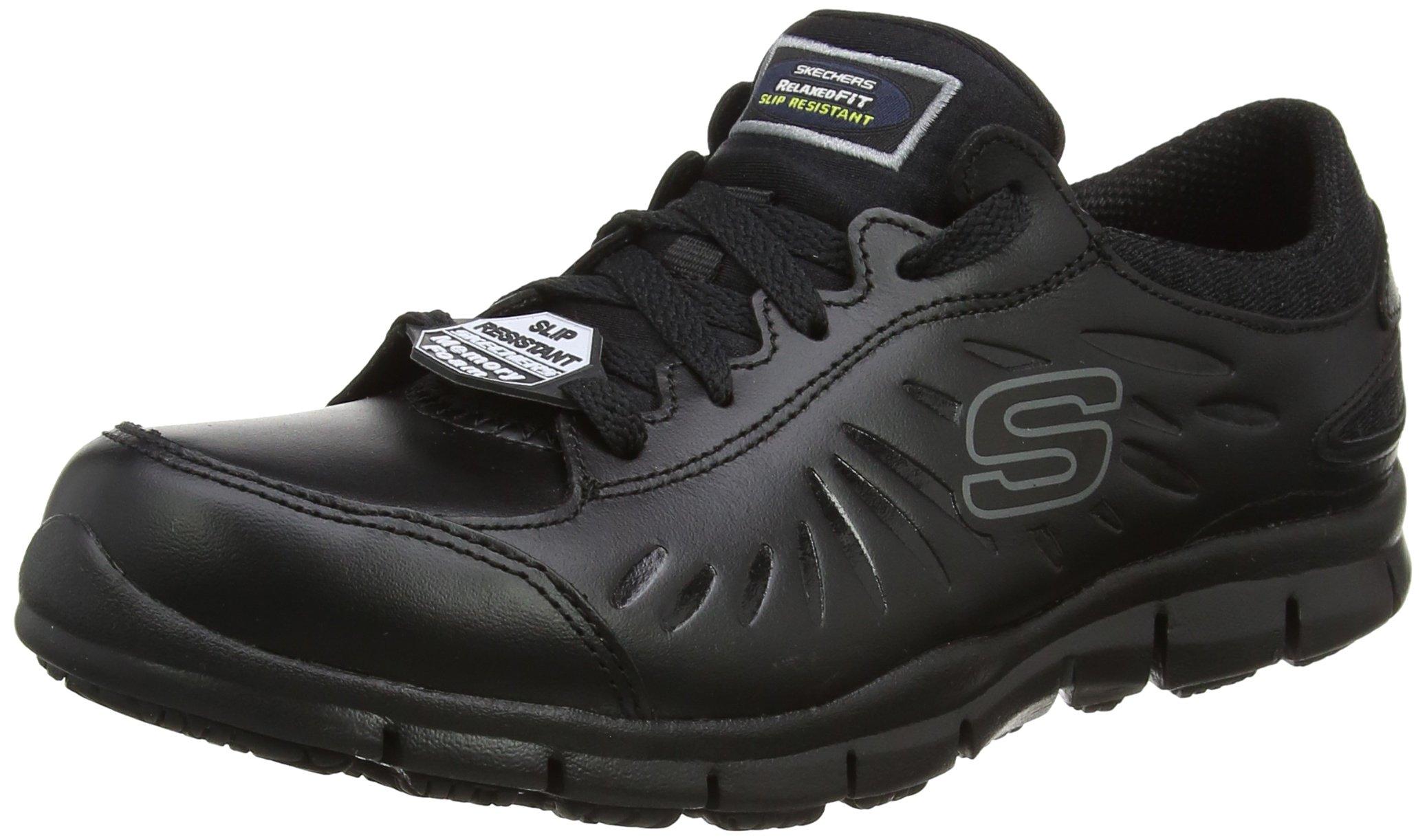 Skechers Eldred Slip Resistant Womens Work Shoes 3 UK/5 US Black
