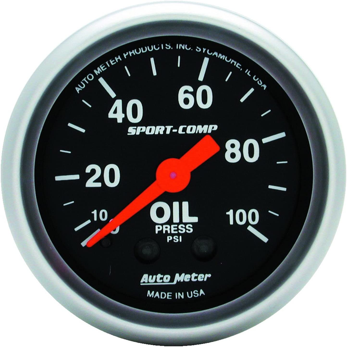 "Auto Meter 3327 Gauge Oil Pressure 2 1//16/"" 100psi Electric Sport-Comp"