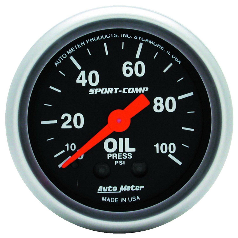 Auto Meter 3321 SPORT-COMP Oil Pressure Gauge