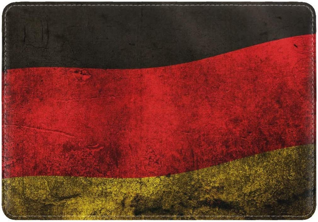 JiaoL Color Flag Germany Leather Passport Holder Cover Case Travel One Pocket