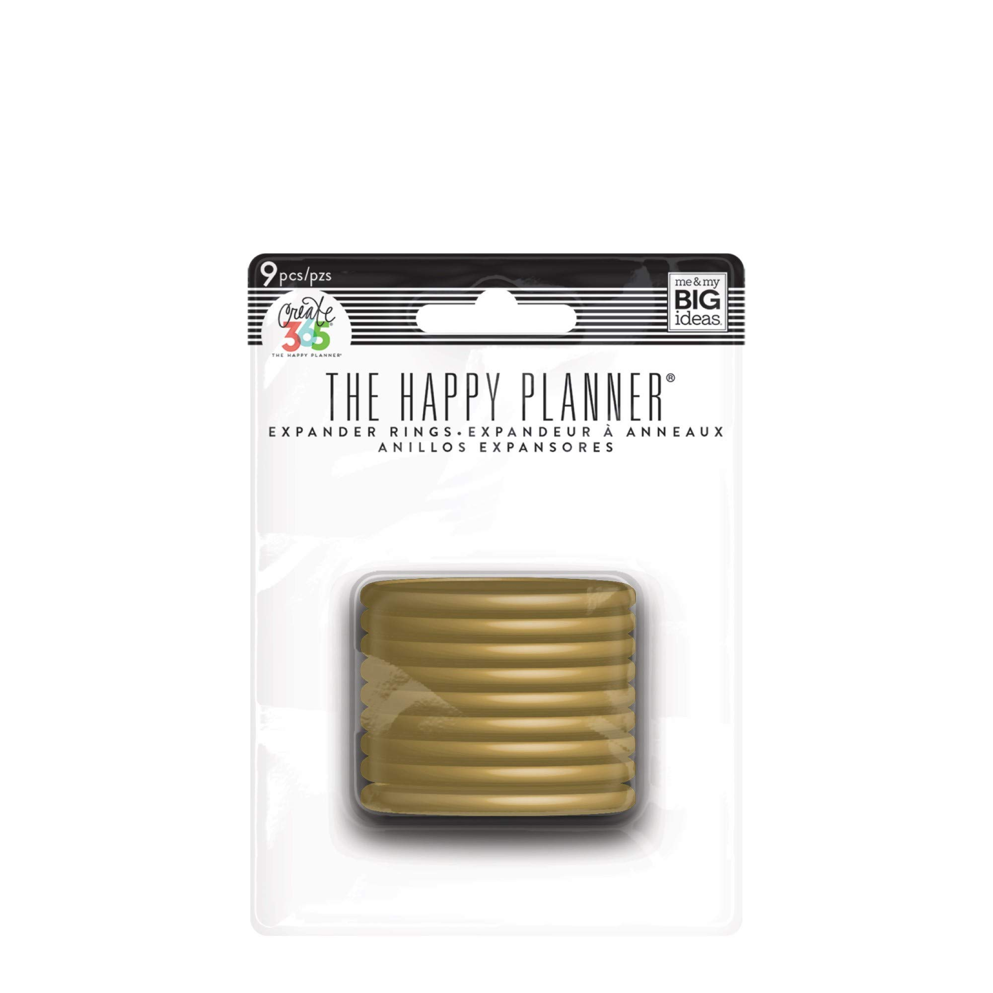 me & my BIG ideas Plastic Expander Discs, Gold - The Happy Planner Scrapbooking Supplies - Add Extra Pages, Notes & Artwork - Create More Space for Notebooks, Planners & Journals - Expander Size