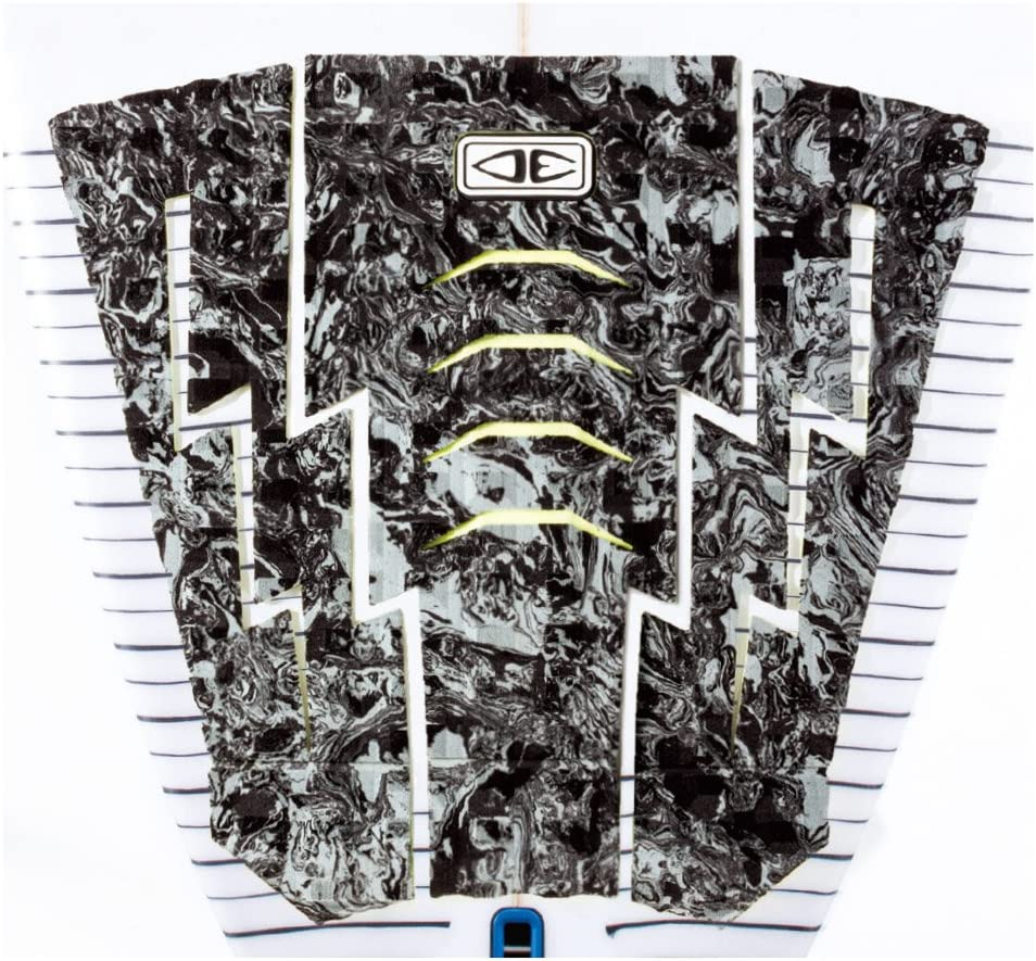 Ocean and Earth Bolt 3 Piece 330 Tail Traction Pad One Size Grey Marble