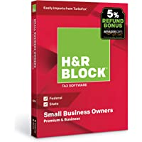 H&R Block Tax Software Premium & Business 2018 with 5% Refund Bonus Offer [Amazon Exclusive] [PC Disc]