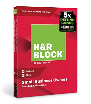Amazon Hr Block Tax Software Premium Business 2018 With 5