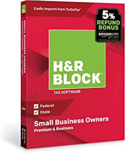 H&R Block Tax Software Premium & Business 2018 with 5% Refund Bonus Offer  [PC Disc]