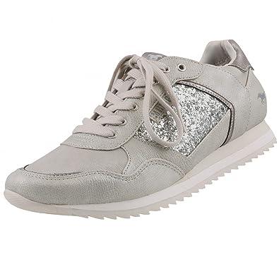Damen Sneaker Silber/Grau, Schuhgröße:EUR 37 Mustang
