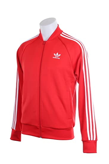 Adidas Originals Superstar Men S Track Jacket Vivid Red White Ay7062