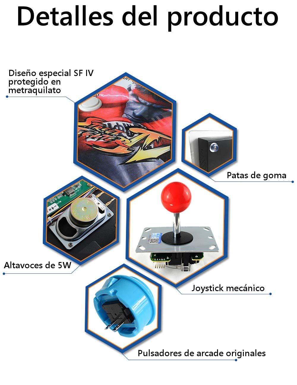 Unicview Consola de Videojuegos Jamma Pandora´s Box 6S (Versión actualizada para 2019) 1.388 Juegos Versiones Originales (Neogeo, CPS1, CPS2, CPS3 y ...