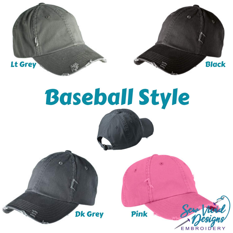 #boymom Distressed High Ponytail Baseball or Trucker Hat Boy Mom Personalized Cap