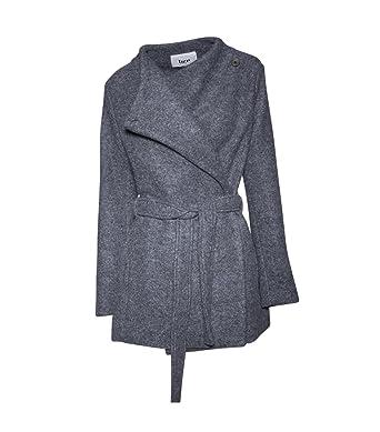 Bzr Damen Wollmantel Shessa Grau 950 Grey 40 Amazonde Bekleidung