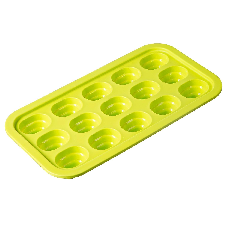 Verde LEVIVO SET134562B Stampo per Cubetti di Ghiaccio 35.00 x 22.00 x 4.00 cm Silicone