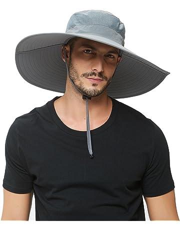 Super Wide Brim Sun Hat-UPF50+ Waterproof Bucket Hat for Fishing 648a7e224b24