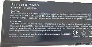 BTY-M6D S9N-3496200-M47 957-16FXXP-101 Laptop Battery for MSI GT783H GX660 GX660DX GX70H GX780R GT70 GT760 GT60 GT660 GX60 GT680 GX680 GT780 GT780R GT663R GT660R (11.1V 7800mAh 87Wh)