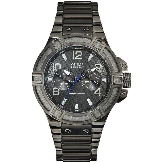 ad198ba65595 Guess Reloj analogico para Hombre de Cuarzo con Correa en Acero Inoxidable  W0218G1  Amazon.es  Relojes