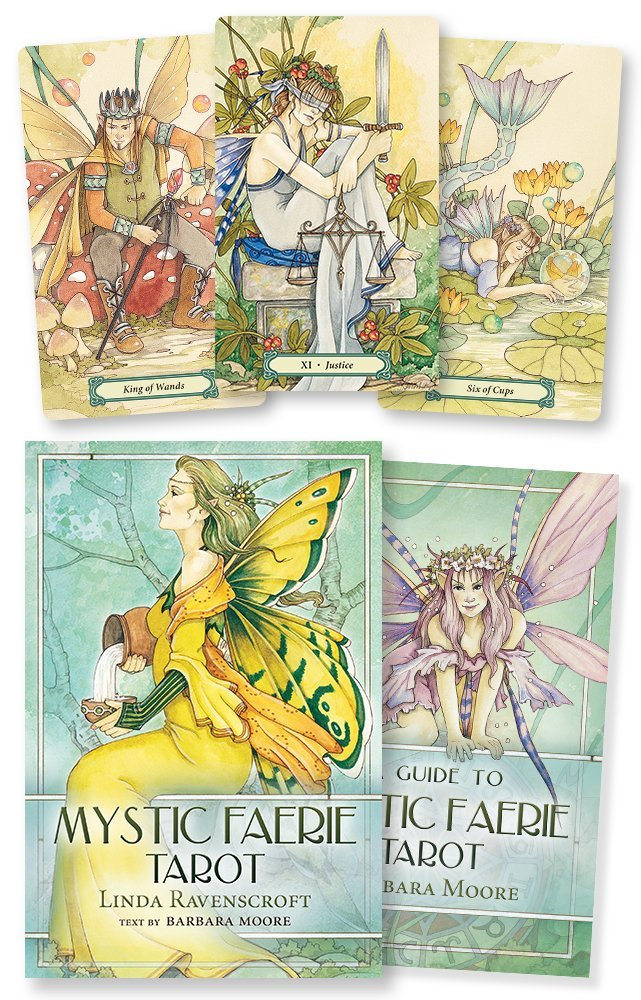 A guide to mystic faerie tarot barbara moore linda ravenscroft a guide to mystic faerie tarot barbara moore linda ravenscroft 9780738709215 amazon books fandeluxe Choice Image
