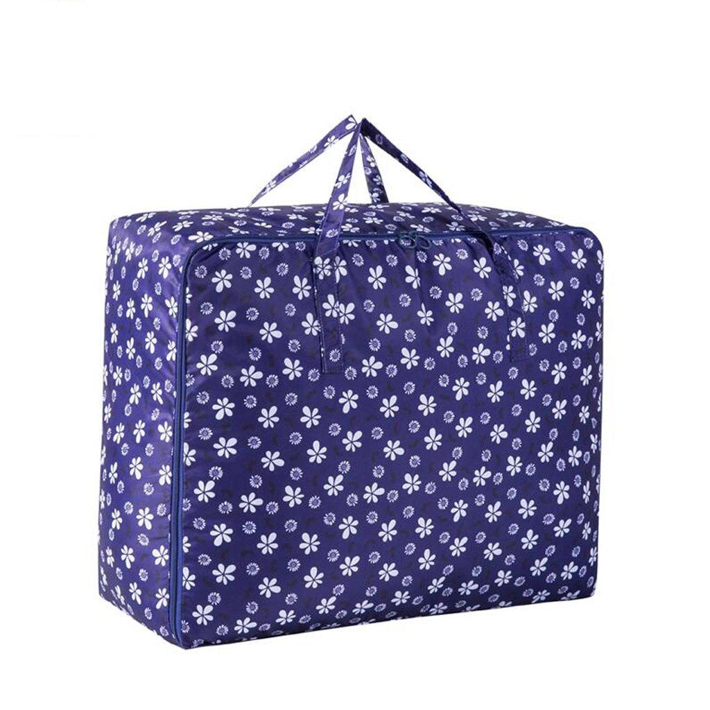 705030cm Xuan - Worth Another Dunkelblaue Pflaume Blüte Muster 3 Stück Kleidung Quilt Paket Finishing Bag Aufbewahrungsbox (größe   70  50  30cm)