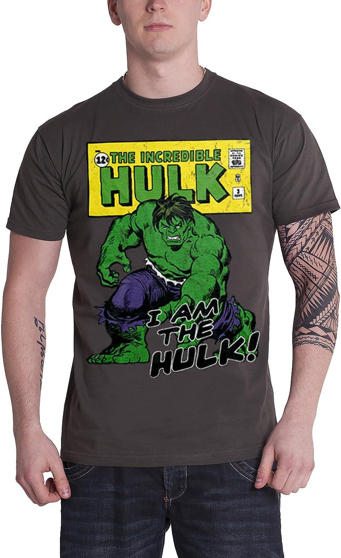 Marvel Comics The Incredible Hulk Official Mens T-Shirt Grey Small