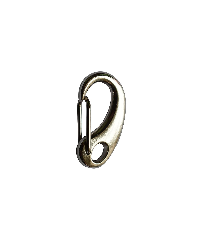Amanaote en métal argenté 3, 2cm Pince de homard fermoirs Boucle Connexion Boucle Crochet pour le sac à main ou bagages Accessoires