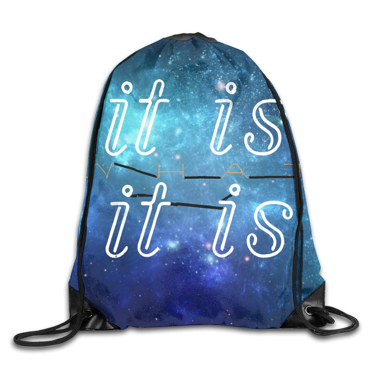CAOI UUC It Is What It Is Gym Drawstring Backpack String Bag