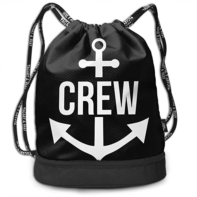 bbe68cc859 Image Unavailable. Image not available for. Color  Crew Anchor Captain  Pirate Sail Boat Outdoor Bundle Backpack Drawstring Backpack Bags Pack  Travel Sport ...