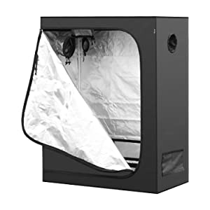 iPower Hydroponic Water-Resistance Grow Tent with Removable Floor Tray