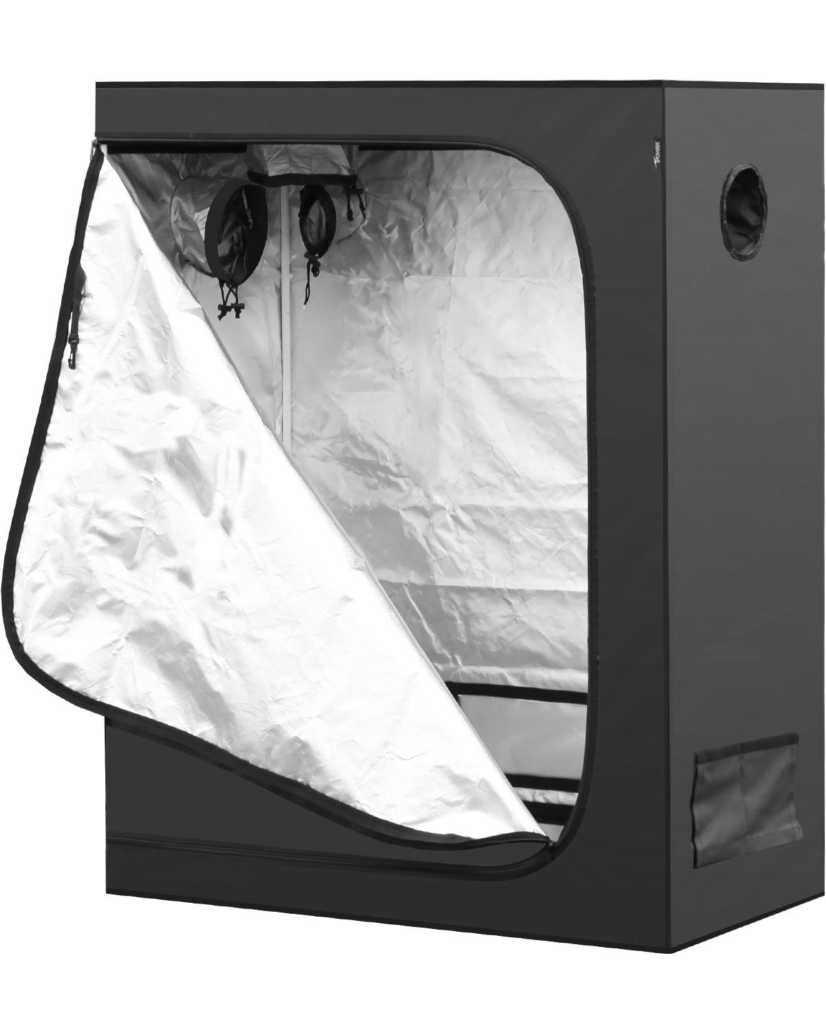 iPower 48''x24''x60'' Hydroponic Water-Resistant Grow Tent with Removable Floor Tray for Indoor Seedling Plant Growing, 2'x4' by iPower