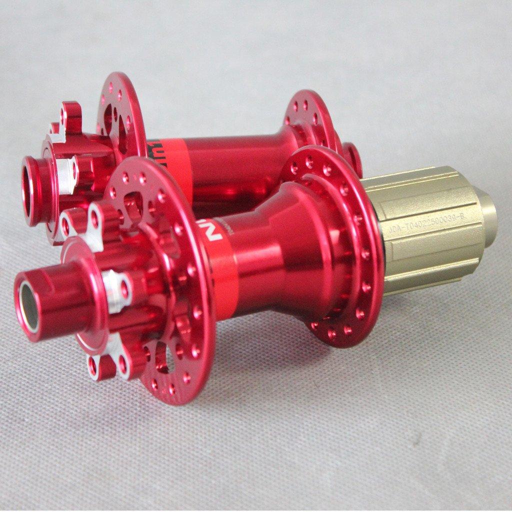 ICAN(アイカン)Novatecハブ マウンテンバイク用 自転車パーツ D771SB/D772SB, 100x15mm&142x12mm 28/28H 1ペア B015NSDJZ6 赤い 赤い