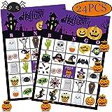 Funnlot Halloween Bingo Game Halloween Party Games for Kids 24 Players Halloween Bingo Game Cards for School Classroom Family Activities Halloween Party Favors