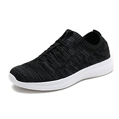 6d07a9a1f8c2 DREAM PAIRS Men s M170889 Black Grey Walking Running Shoes Fashion Sneakers  Size 6.5 ...