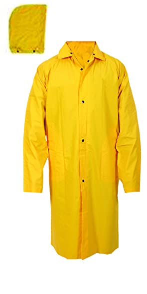 Full-Length Yellow Raincoats 100% PVC at Amazon Men's Clothing store: