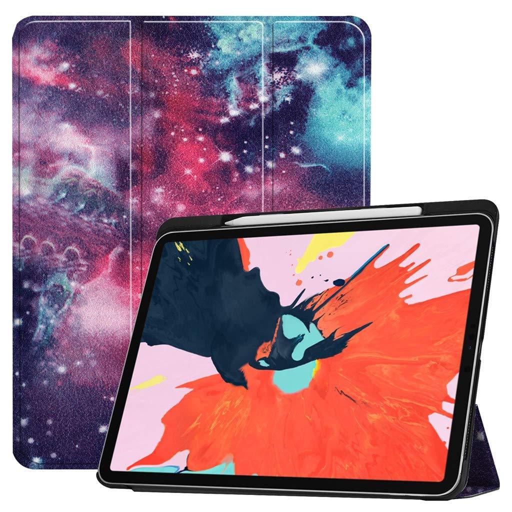 新しいスタイル iPad - iPad Pro 12.9インチ 2018 スリムフォリオケース ウェイク/スリープスタンドカバー - ベージュ ギャラクシー/フラワー/幾何学模様ケースカバー Apple Pencilホルダー付き ベージュ A B07KV36Q1L, アイテックスポーツ:67126ed4 --- a0267596.xsph.ru