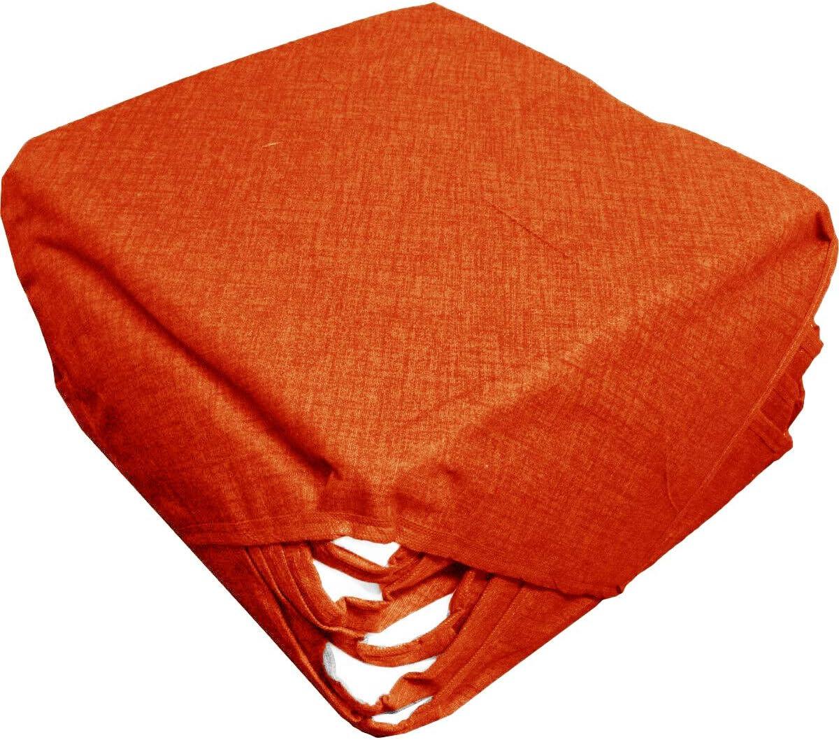 Russo Tessuti 6 Cuscini Sedie Cucina Coprisedia Imbottiti Tinta Unita Vari Colori Alette Arancione