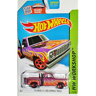 Hot Wheels, 2015 HW Workshop, '78 Dodge Lil Red Express Truck [Purple] #215/250: Toys & Games