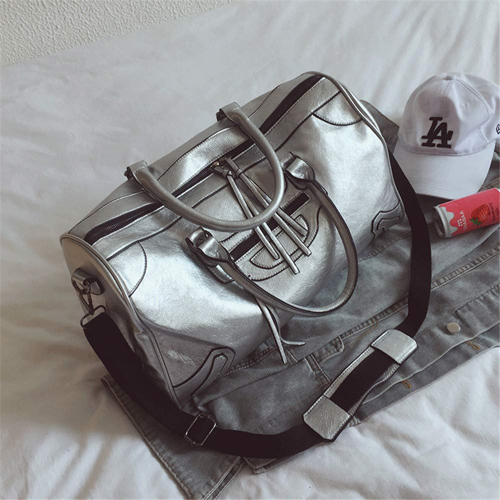 Unisex Travel Duffel Weekender Bag Unisex Overnight Weekend Weekender Travel Bag Faux Leather Waterproof Tassel Holdall Gym Sports Tote Bag Travel Carry On Duffles Bags Luggage Bags Handbag Shoulder B