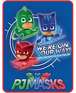 Licensed Character Plush Fleece Throws , PJ Masks