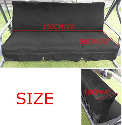Cushion Cover Replacement for 3 Seaters Waterproof Replacement Porch Top Cover Patio Swing Seat Cover Swing Chair Cushion Cover Beige Patio Canopy Swing Replacement Top Cover