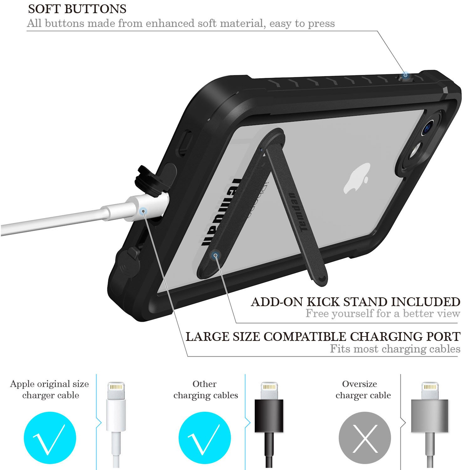 Iphone 7 8 Waterproof Case Temdan Supreme Series And This Is The Diagram Of Cable I Made For Myself Provided As With Carabiner Built In Screen Protector Outdoor Rugged Shockproof Clear