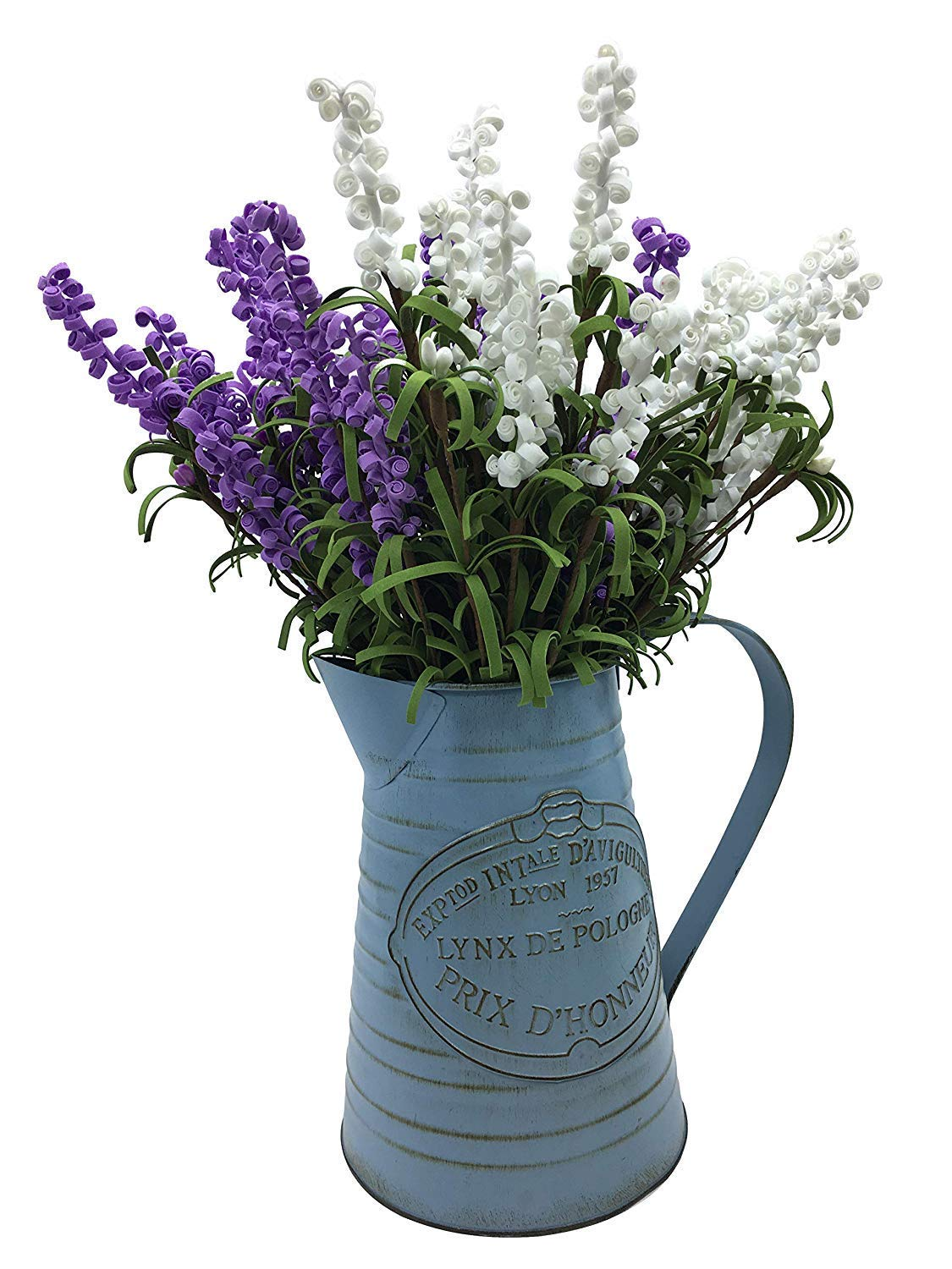 APSOONSELL Shabby Chic Metal Jug Vase Pitcher Flower Holder for Home Decoration by APSOONSELL