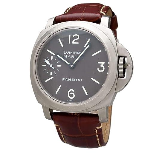 Panerai Luminor Marina Reloj mecánico de Mano con Viento Macho PAM00061 (Certificado de prepropiedad)